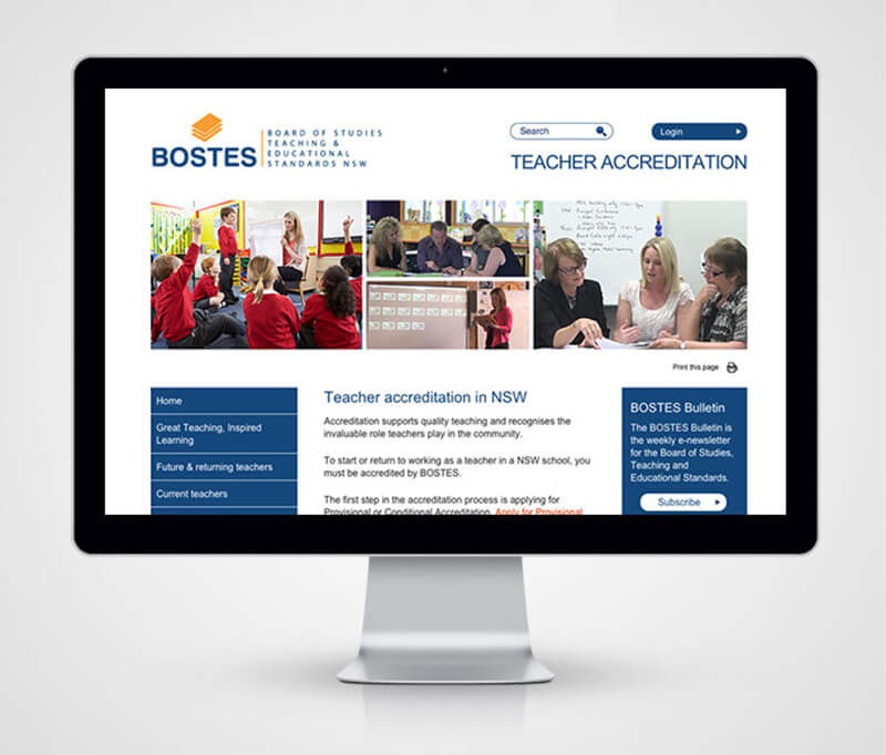 Bostes Website Homepage