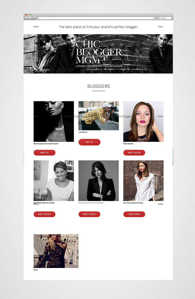 chic bloggers page
