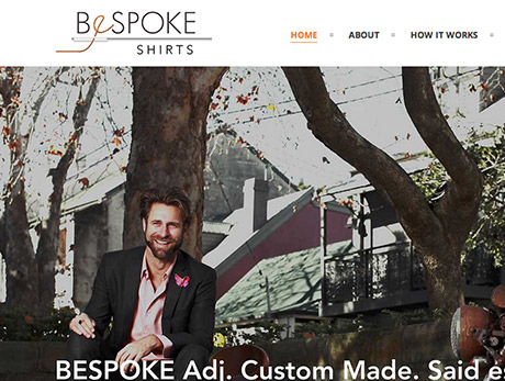 Bespoke Shirts Website Design