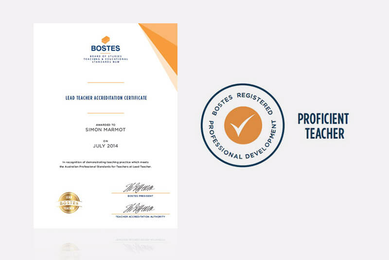 Bostes Teacher Accreditation Certificate